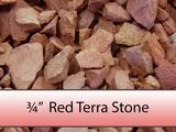 "3/4"" Red Terra Stone"