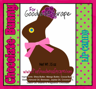 Chocolate Easter Bunny Lip Balm - Pink Color Theme