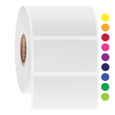 Cryogenic Direct Thermal Labels - 50.8 x 25.4mm #DFP/DFPC-28