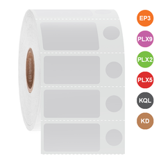 Cryogenic Labels for Inkjet Printers- 31.8 x 15.9 + 9.5mm  #ADA-103