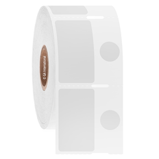 Cryo Barcode Labels - 20mm x 35mm + 11.1mm Circle  #JTT-208NOT
