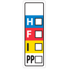 HMIS Symbol Labels - 25.4 x 76.2mm #WL-016