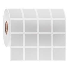 Cryogenic Direct Thermal Labels - 22.2 x 22.2mm  #DFP-95