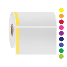 Direct Thermal Paper Labels - 75.2 X 50.8mm #DT-56 With Color Tab