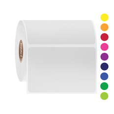 Permanent Solvent-Resistant Color Labels for Containers - 76.2mm x 50.8mm  #AUA-56