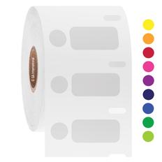 DYMO-Compatible Cryogenic Labels - 26.4mm x 12.7mm + 9.5mm Circle  #EC1F/EG1F-081