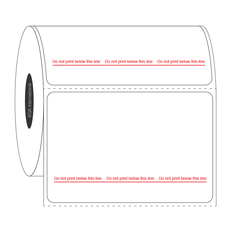 Steam Sterilization Indicator Thermal Transfer Labels - 76.2mm x 50.8mm  #SAUP-56