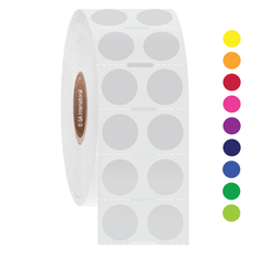 Deep-Freeze Barcode Labels - 12.7mm circle  #FJT-53 Notch