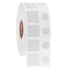 Deep-Freeze Barcode Labels - 15.2mm x 15.2mm + 9mm Circle  #FJT-230