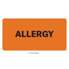 """Allergy"" Label - 50.8mm x 25.4mm  #H-PPL-04428"