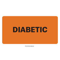 """Diabetic"" Label - 50.8mm x 25.4mm  #H-PPL-04429"