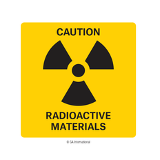 Radiation Warning Label - 50.8mm x 50.8mm  #H-PPL-04430