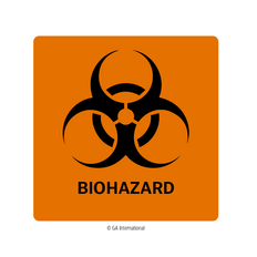 Biohazard Warning Labels - 50.8mm x 50.8mm  #H-PPL-04432
