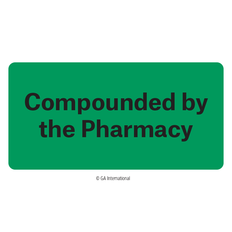 """Compounded by the Pharmacy"" Labels - 50.8mm x 25.4mm  #H-PPL-04436"