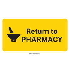 """Return to Pharmacy"" Labels - 50.8mm x 25.4mm  #H-PPL-04437"