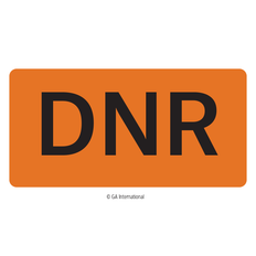 """DNR"" Labels - 50.8mm x 25.4mm  #H-PPL-04440"