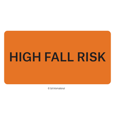 """High Fall Risk"" Labels - 50.8mm x 25.4mm  #H-PPL-04441"