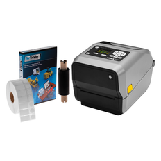 Zebra ZD620t Printing Kit - 300 dpi, LCD - (Professional Version Software - One Printer Edition) #PKZD6-LCD-31