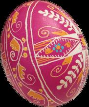 Pysanka egg with agricultural symbols