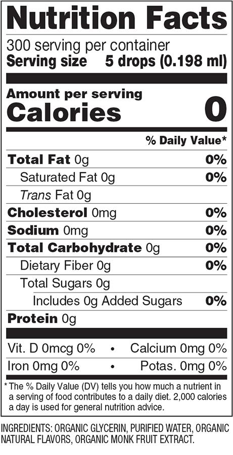 Crème Brûlée Monk Fruit Sweetener Nutrition Facts