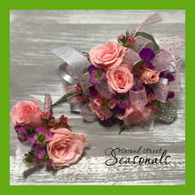 Pink Rose Corsage & Boutonnière