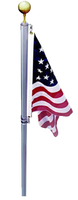 The Defender Flag Pole: 360 Degree No Wrap Swivel System, flag never wraps around pole.