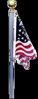 The Defender Flag Pole: 360 Degree No Wrap Swivel System, flag never wraps around pole.