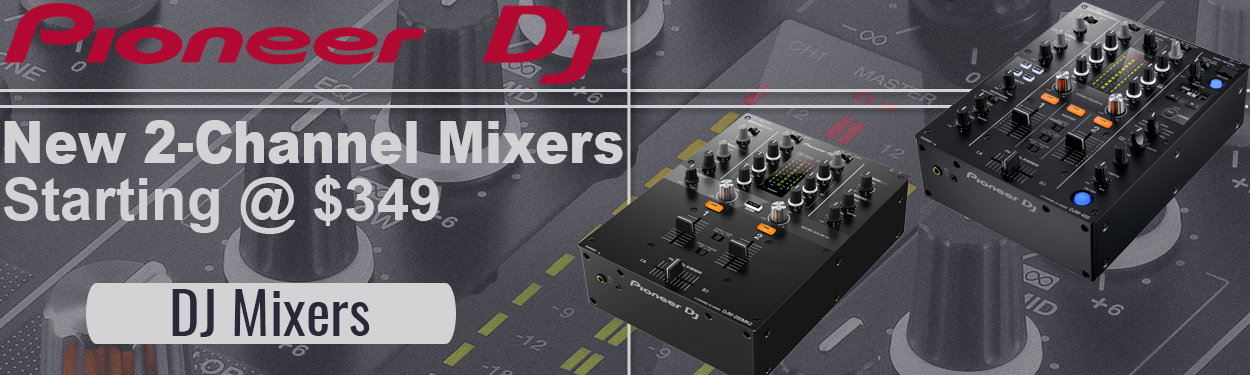 Pioneer 2 channel DJ mixers