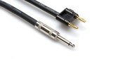 Hosa Speaker Cable (16AWG, 1/4 Inch to Banana, 25 Foot)