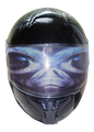 Alien Motorcycle Helmet Visor Sticker