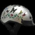 1VB - DOT VENTED BUTTERFLY MOTORCYCLE HALF HELMET BEANIE HELMETS