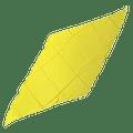Diamond Cut Silk 36 inch (YELLOW) by Magic by Gosh - Trick