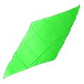 Diamond Cut Silk 36 inch (GREEN) by Magic by Gosh - Trick