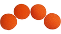 1.5 inch Regular Sponge Balls (Orange) Pack of 4 from Magic by Gosh