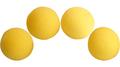 1.5 inch Regular Sponge Balls (Yellow) Pack of 4 from Magic by Gosh
