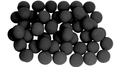 1 inch Regular Sponge Ball (Black) Bag of 50 from Magic by Gosh