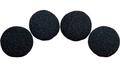 1 inch Regular Sponge Ball (Black) Pack of 4 from Magic by Gosh