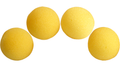 2 inch Regular Sponge Ball (Yellow) Pack of 4 from Magic by Gosh
