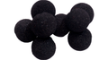 Mini Regular Sponge Ball (Black) Bag of 8 from Magic by Gosh