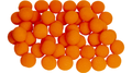 1.5 inch Super Soft Sponge Balls (Orange) Bag of 50 from Magic By Gosh