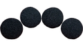 1 inch Super Soft Sponge Ball (Black) Pack of 4 from Magic by Gosh