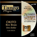 Okito Coin Box (BRASS w/DVD)(B0028) One Dollar by Tango Magic - Trick