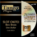 Slot Okito Coin Box (BRASS w/DVD)(B0031) One Dollar by Tango Magic - Trick