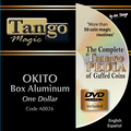 Okito Coin Box (Aluminum w/DVD)(A0026) One Dollar by Tango Magic - Tricks