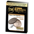 Magnetic Flipper Coin Eisenhower Dollar (D0041) by Tango - Trick