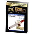 Cigarette Through (2 Euros, One Sided) E0012 by Tango - Trick