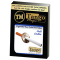Cigarette Through Half Dollar (Two Sided) (D0015)by Tango - Trick