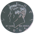 Kennedy Palming Coin (Half Dollar Sized) by You Want It We Got It - Trick