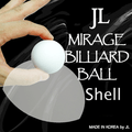 Two Inch Mirage Billiard Balls by JL (WHITE, shell only) - Trick