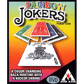 Rainbow Jokers (Poker Size and DVD included) by Astor Magic - Trick